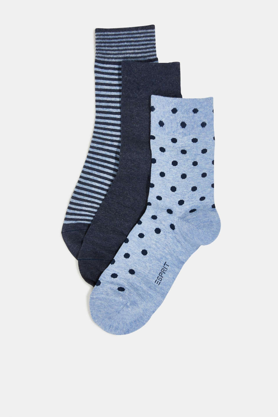 Esprit - Gift box containing a triple pack of socks