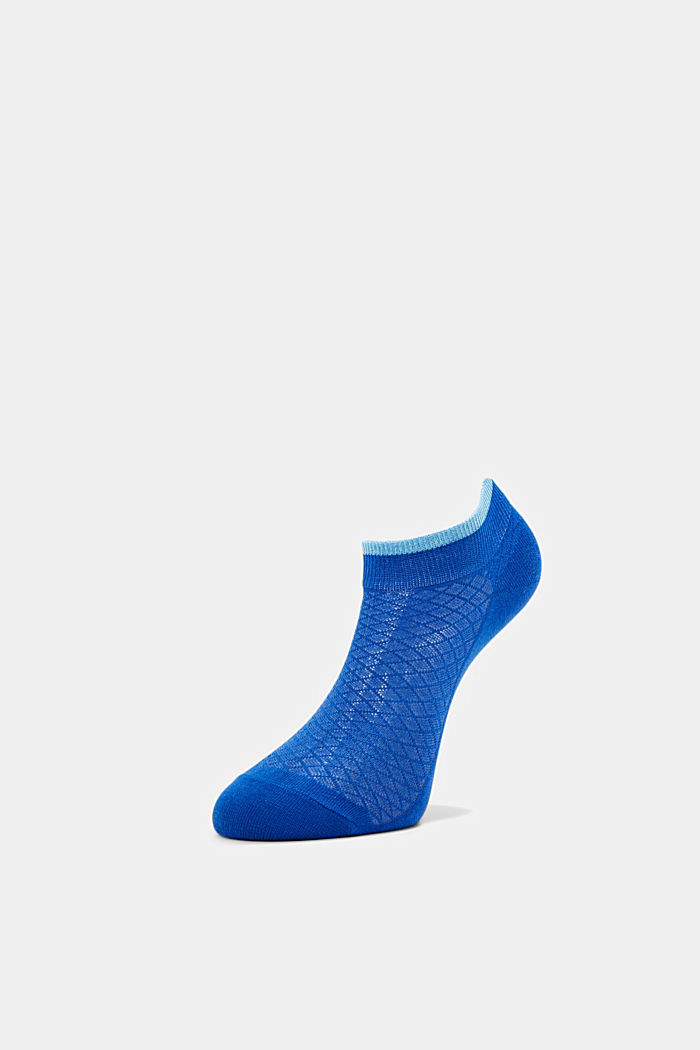 Socks with an openwork pattern, COBALT, detail image number 2