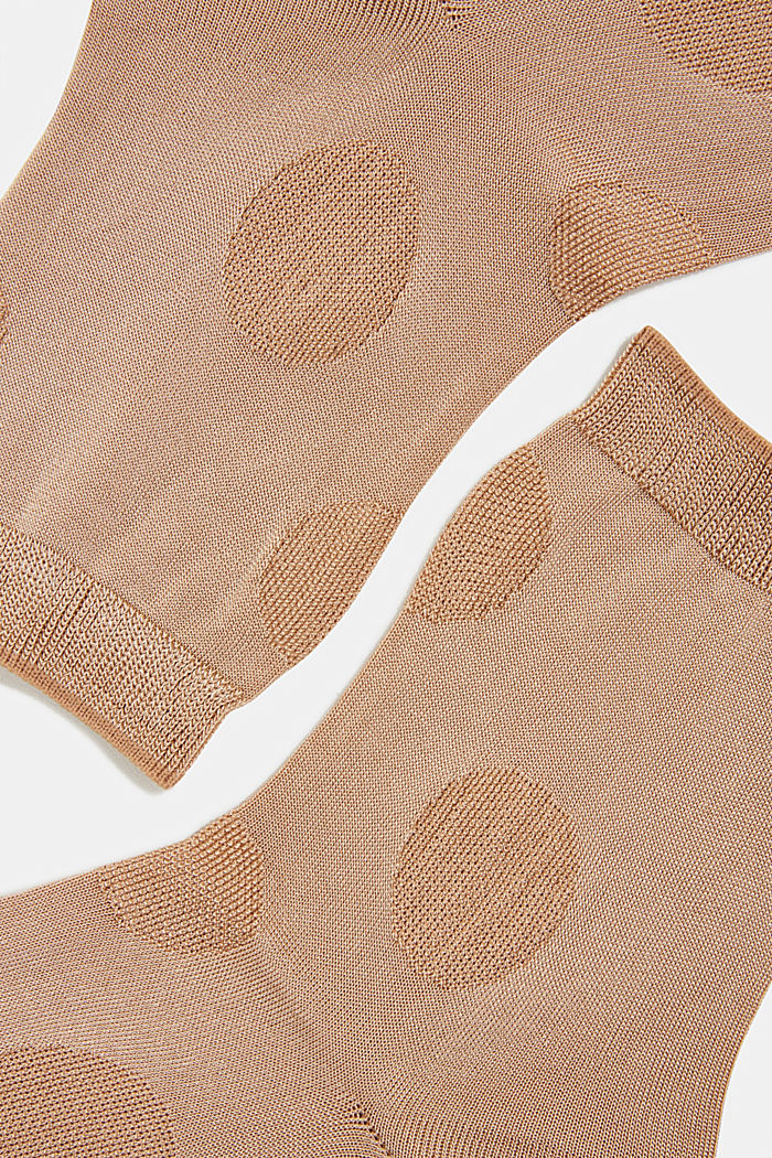 Socks with a polka dot texture, CAMEL, detail image number 1