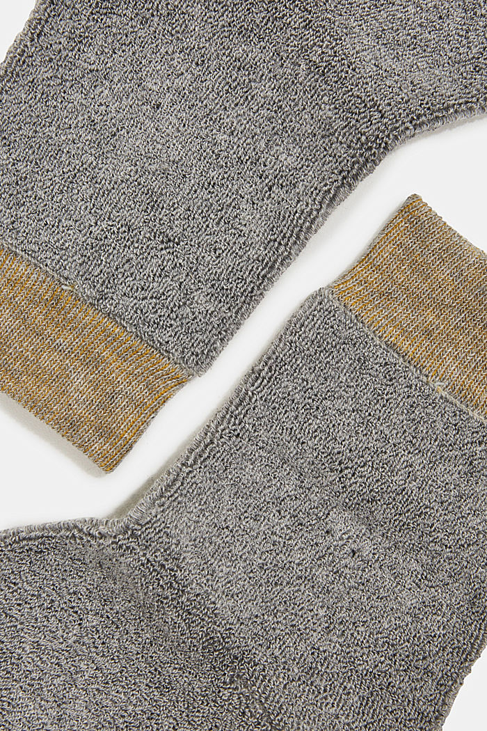 Socks with a terrycloth texture, LIGHT GREY, detail image number 1