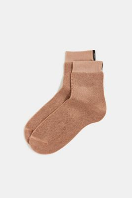 Socks with a terrycloth texture, CAMEL, detail