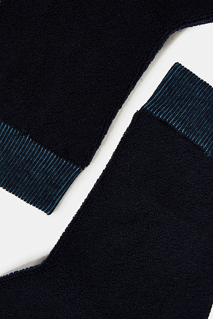 Socks with a terrycloth texture, MARINE, detail image number 1