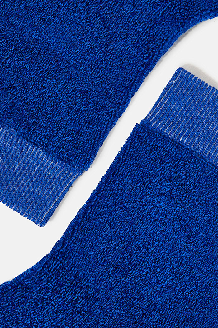 Socks with a terrycloth texture, COBALT, detail image number 1