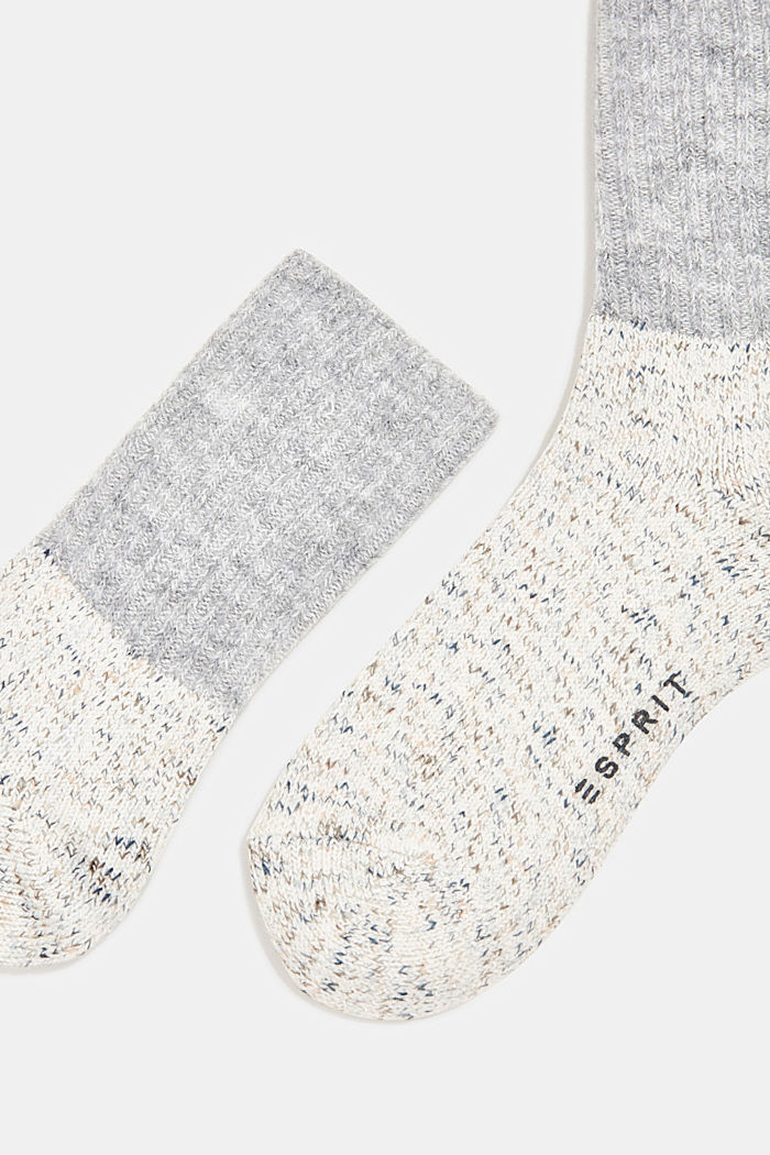 Wool blend with cashmere: sparkly socks, OFF WHITE, detail image number 2