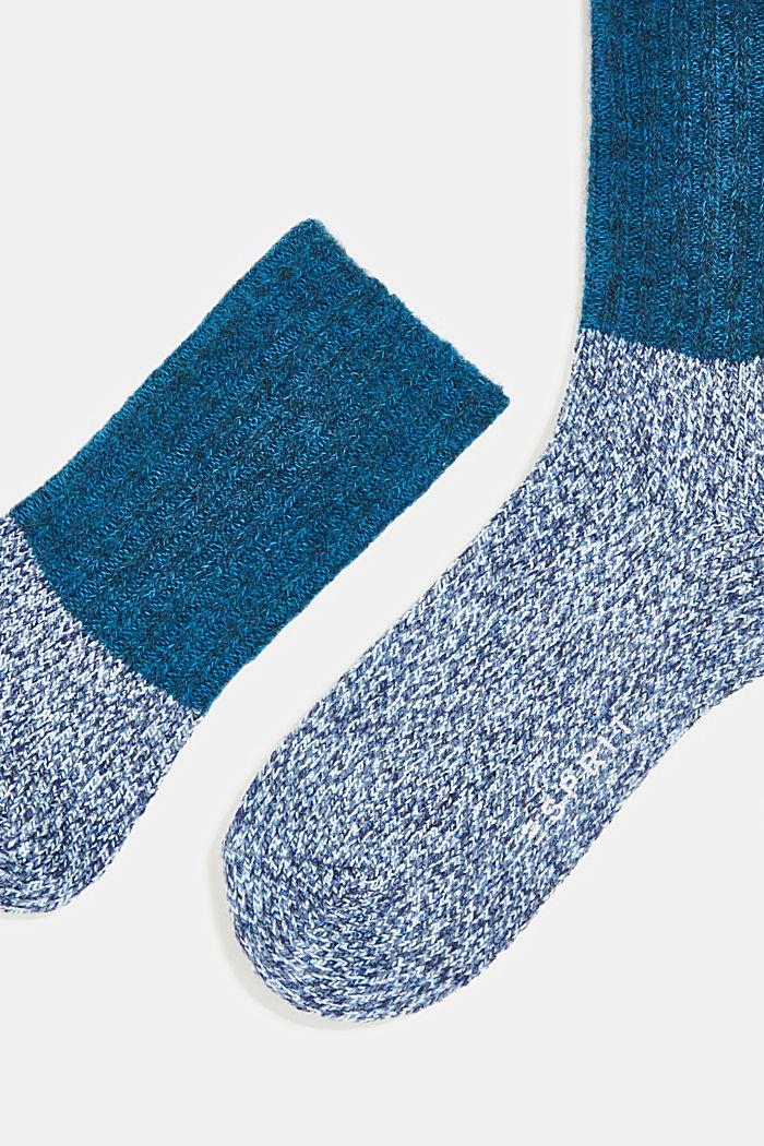Wool blend with cashmere: sparkly socks, LIGHT DENIM, detail image number 2
