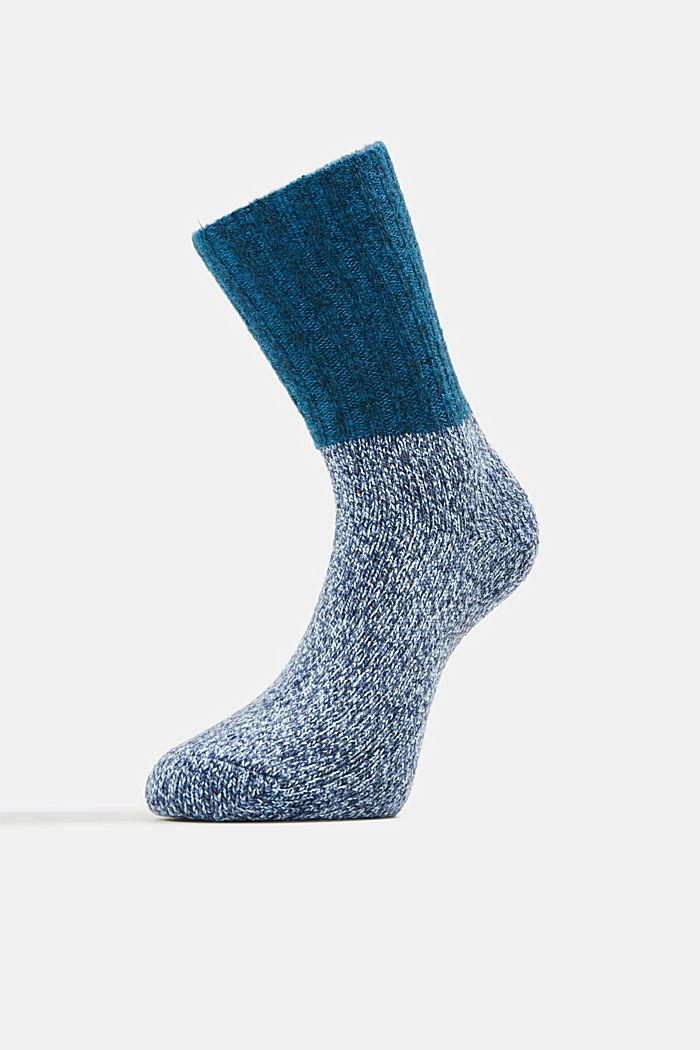 Wool blend with cashmere: sparkly socks, LIGHT DENIM, detail image number 1