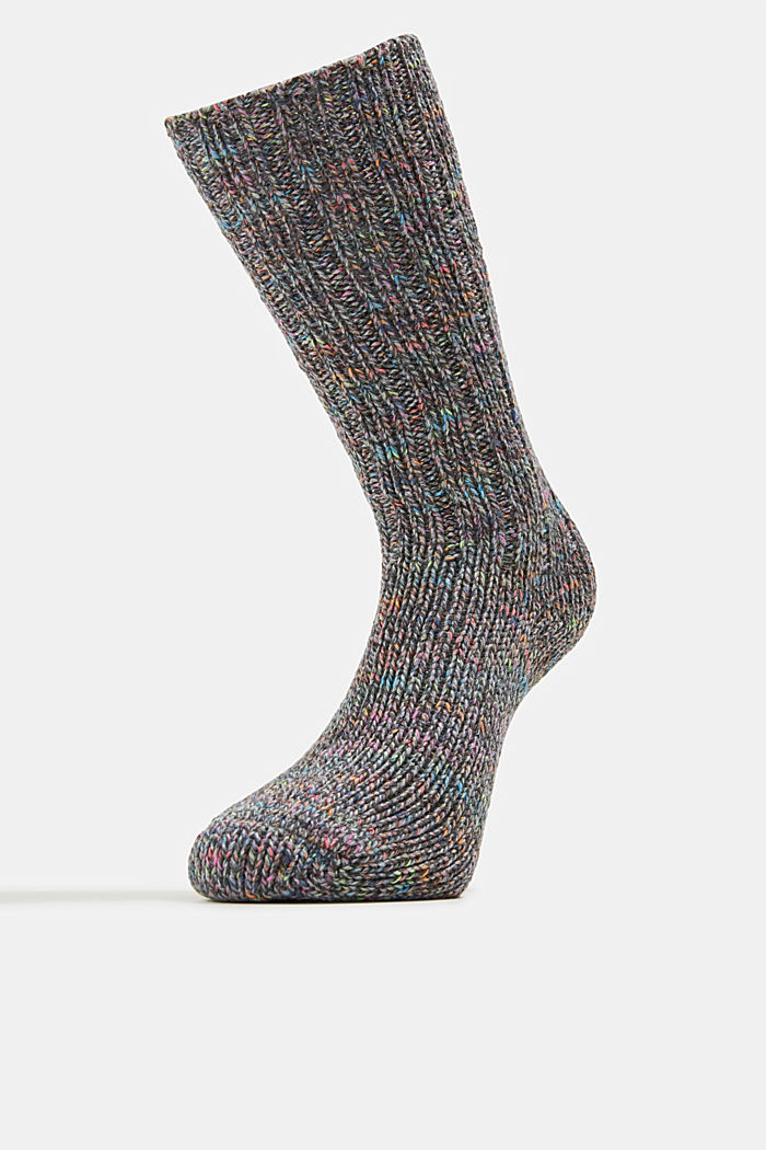 Wool blend: Multi-coloured socks with cashmere