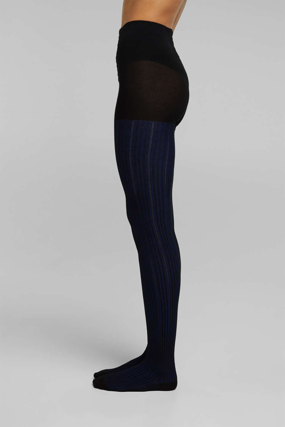 Esprit - Tights with textured stripes