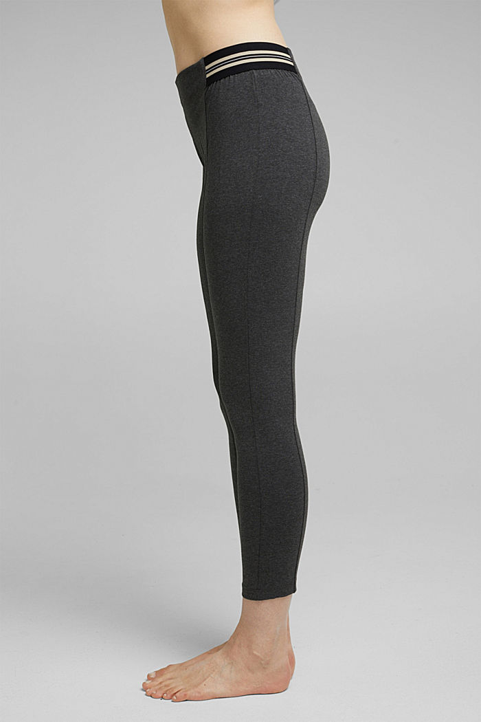 7/8 leggings in blended cotton, ANTHRACITE MELANGE, detail image number 0