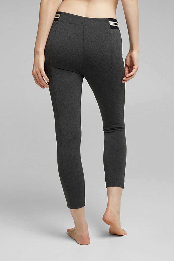7/8 leggings in blended cotton, ANTHRACITE MELANGE, detail image number 2
