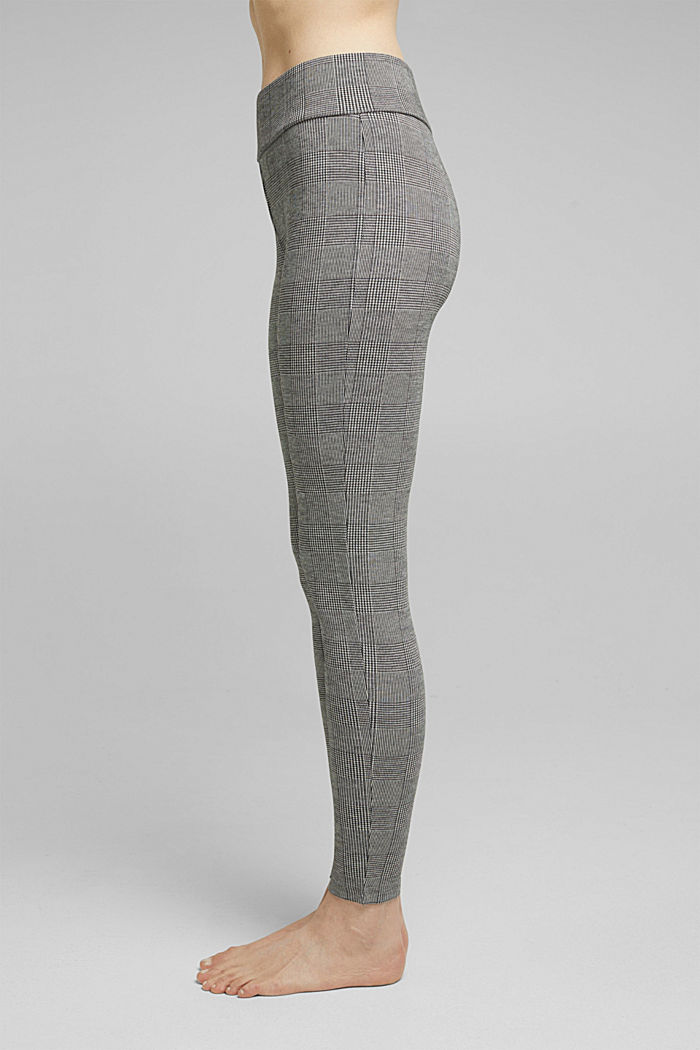 Jacquard legging in 7/8-lengte, ANTHRACITE MELANGE, overview