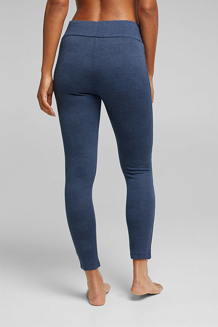 7/8-length jacquard leggings, NAVY MELANGE, detail image number 2