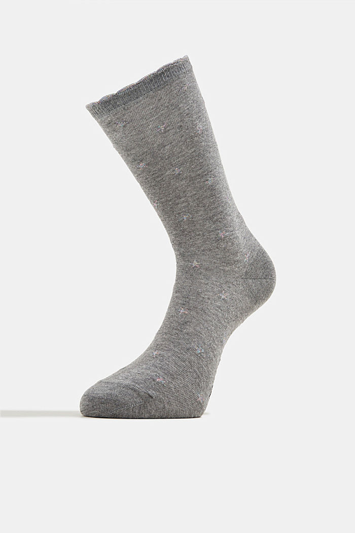 2er-Pack Socken aus Baumwoll-Mix, LIGHT GREY MELANGE, detail image number 2