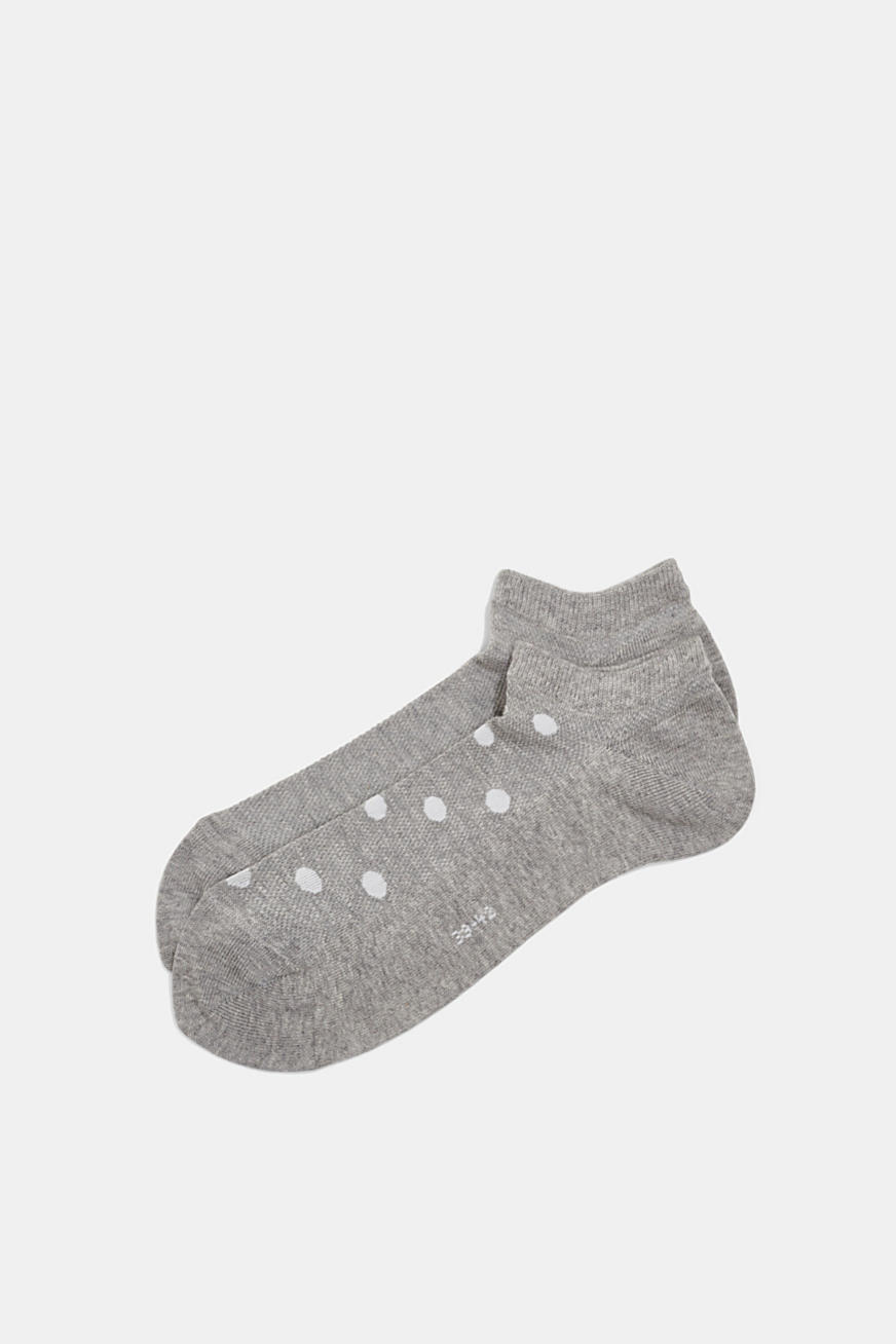 Double pack: sneaker socks with polka dots