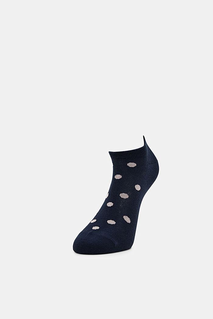 2er-Pack: Sneaker-Socken mit Tupfen, MARINE, detail image number 2
