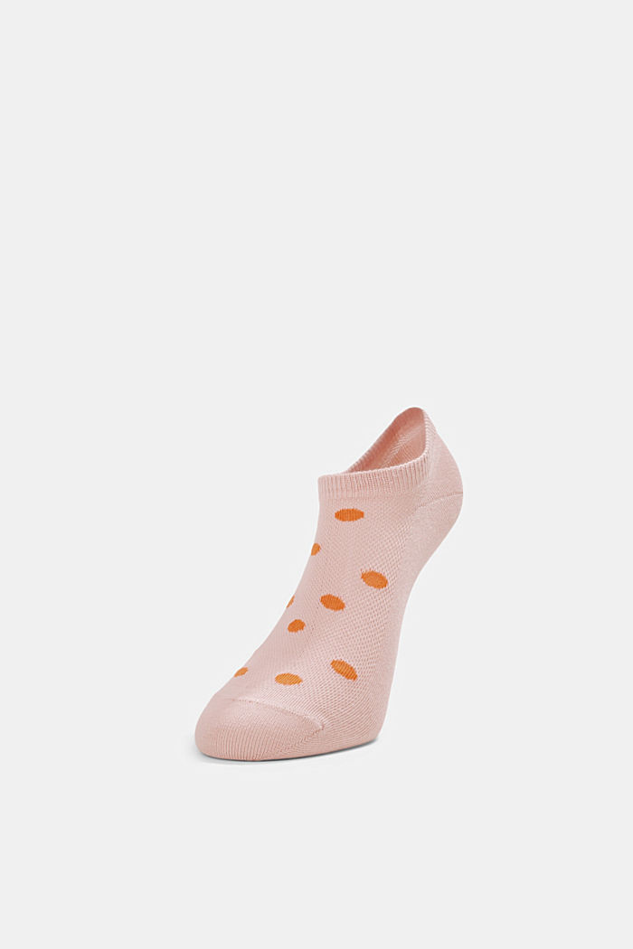 Double pack: sneaker socks with polka dots, MISTYROSE, detail image number 2