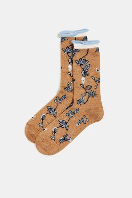 With cashmere: floral-patterned socks, SENF, detail