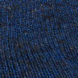 With cashmere: floral-patterned socks, DEEP BLUE, swatch