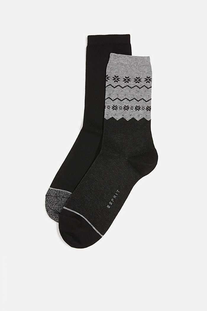 2-pack of socks with a sparkly effect