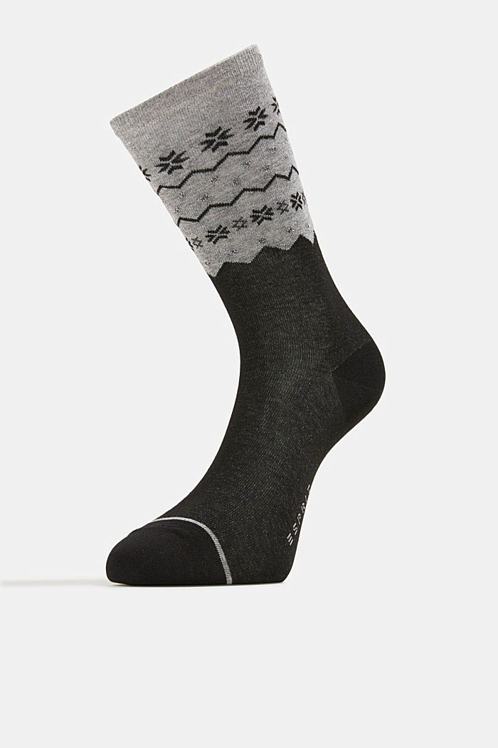 2-pack of socks with a sparkly effect, BLACK, detail image number 1