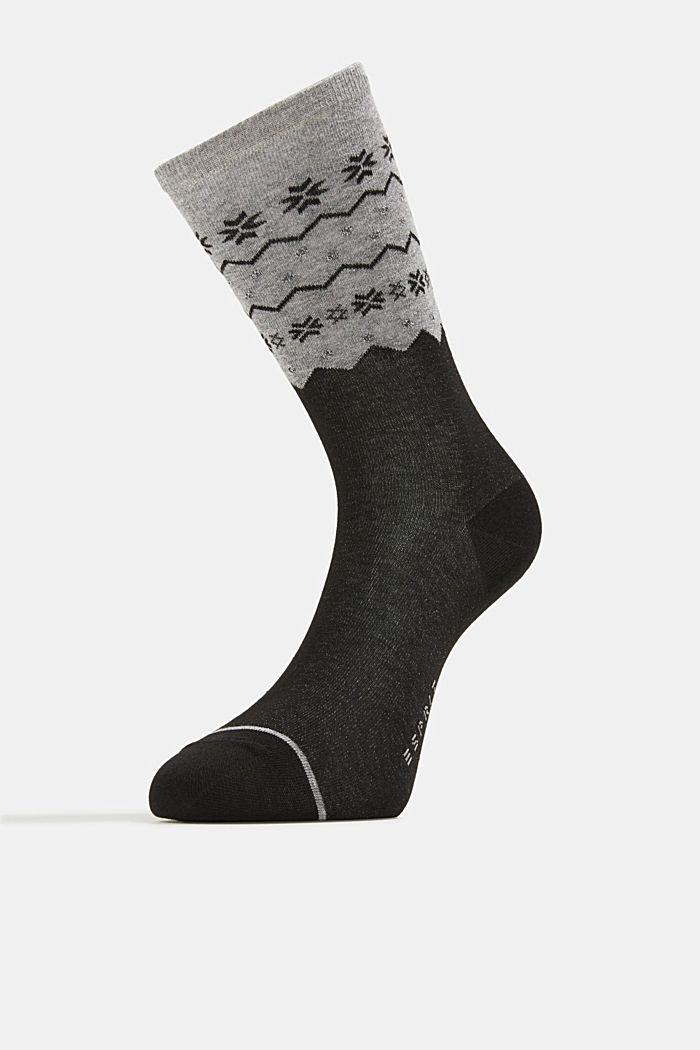 2 paar sokken met glittereffect, BLACK, detail image number 1
