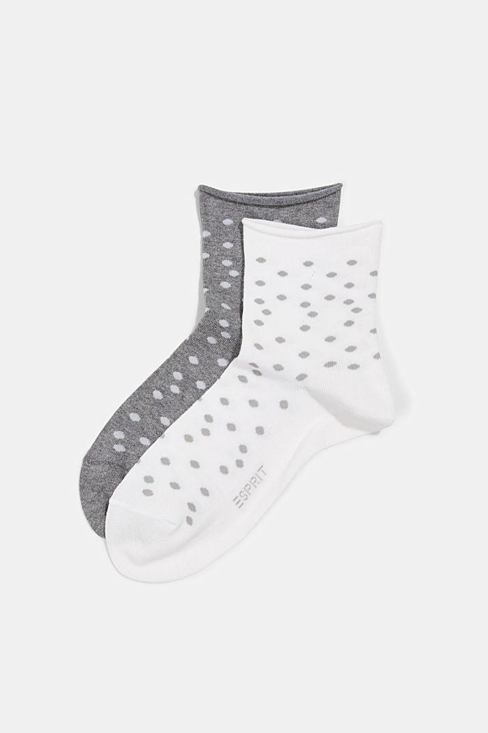 2er-Pack Socken mit Tupfenmuster