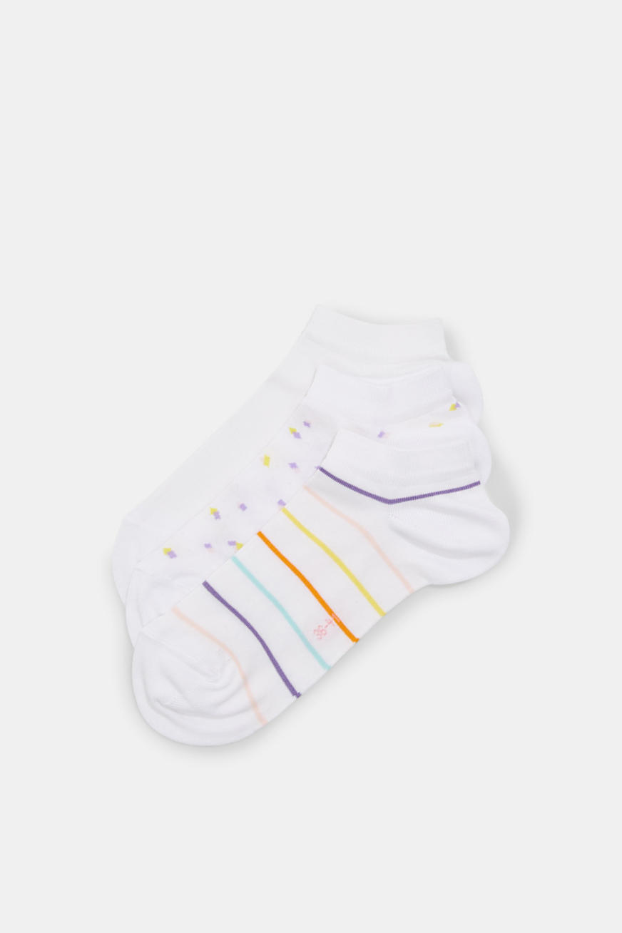 3-pack of blended cotton trainer socks