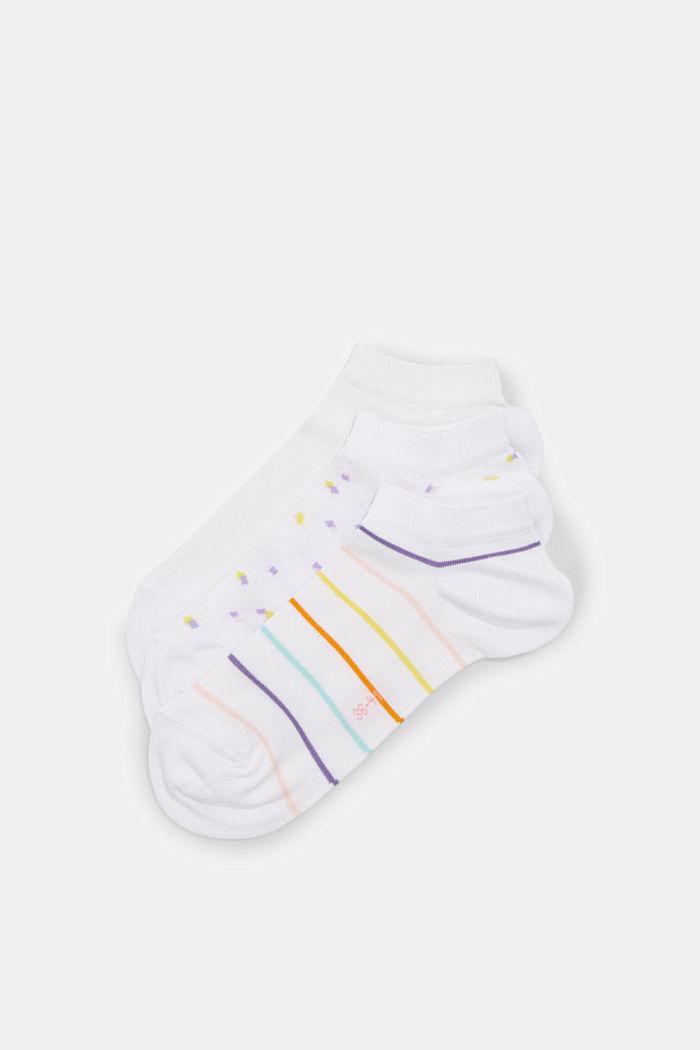 3er-Pack Sneaker-Socken aus Baumwoll-Mix