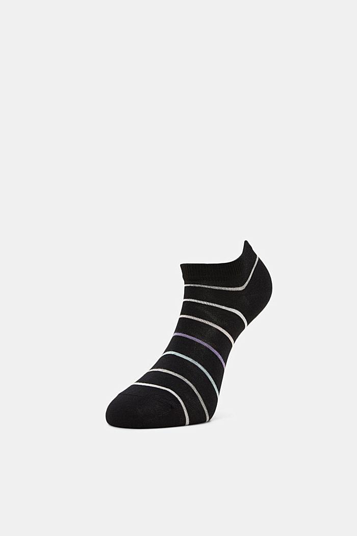 3er-Pack Sneaker-Socken aus Baumwoll-Mix, BLACK, detail image number 2