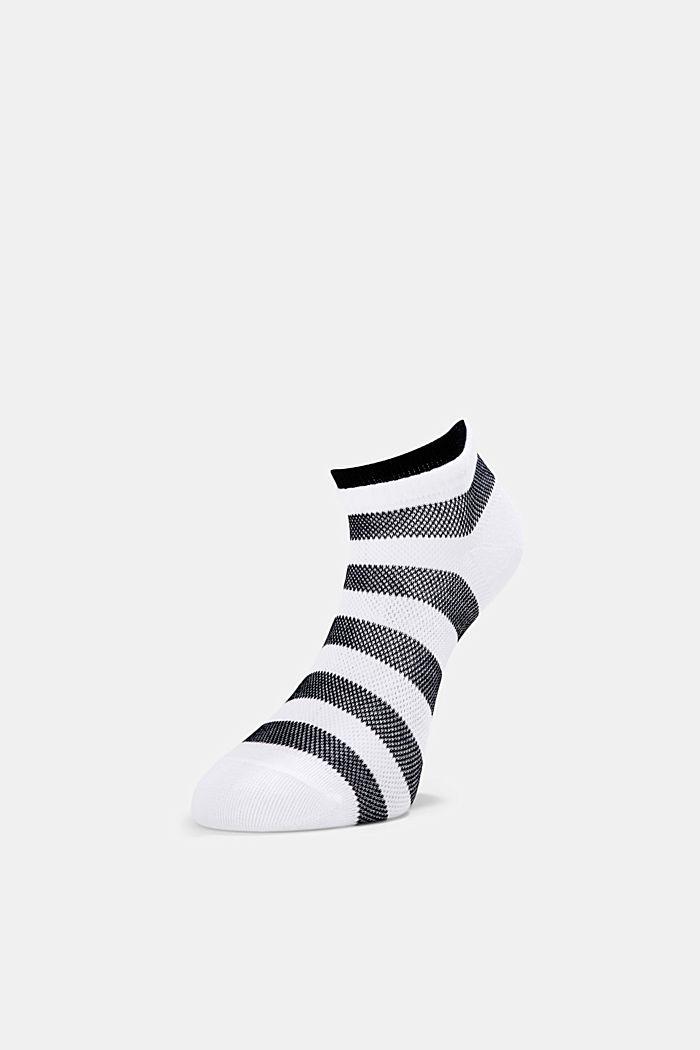 2er-Pack Sneaker-Socken aus Baumwoll-Mesh, BLACK, detail image number 2