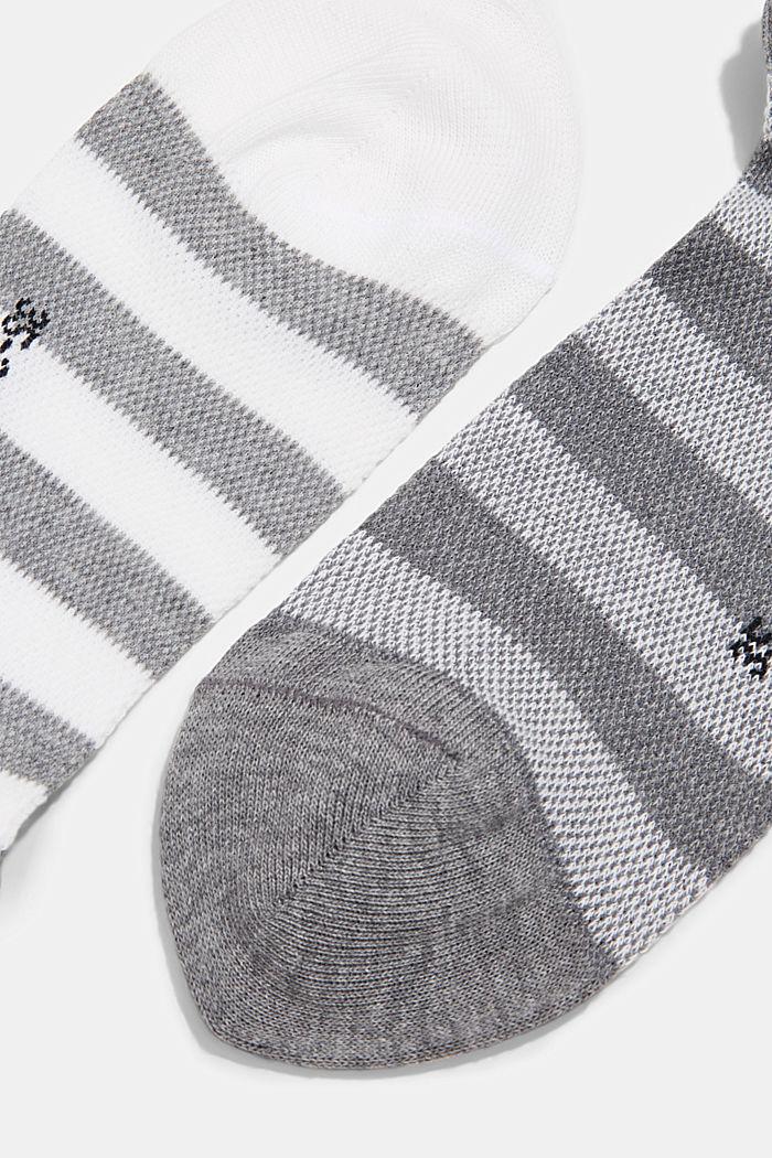 Set van 2 paar sneakersokken van katoen-mesh