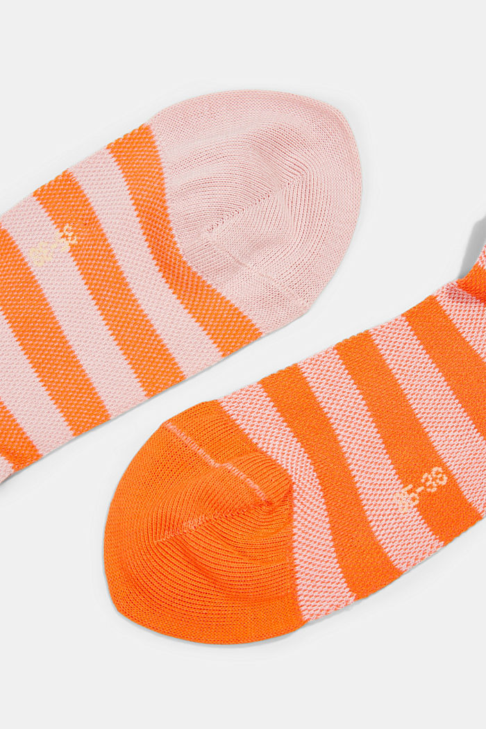 Two pack of trainer socks made of cotton mesh, ORANGE, detail image number 1