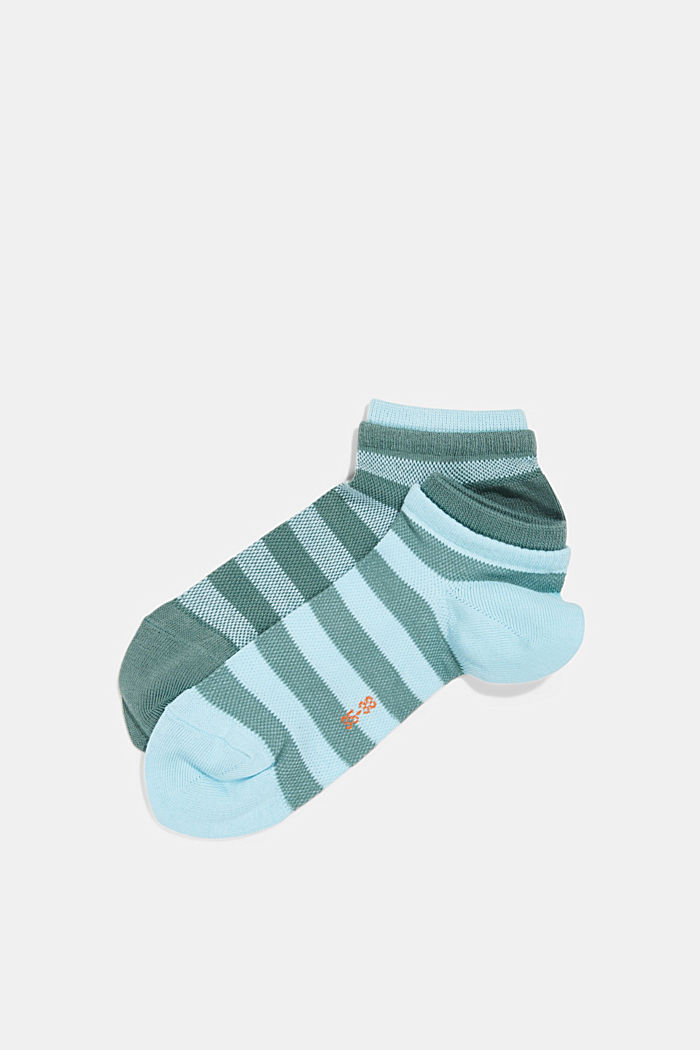 2er-Pack Sneaker-Socken aus Baumwoll-Mesh, GREEN, detail image number 0