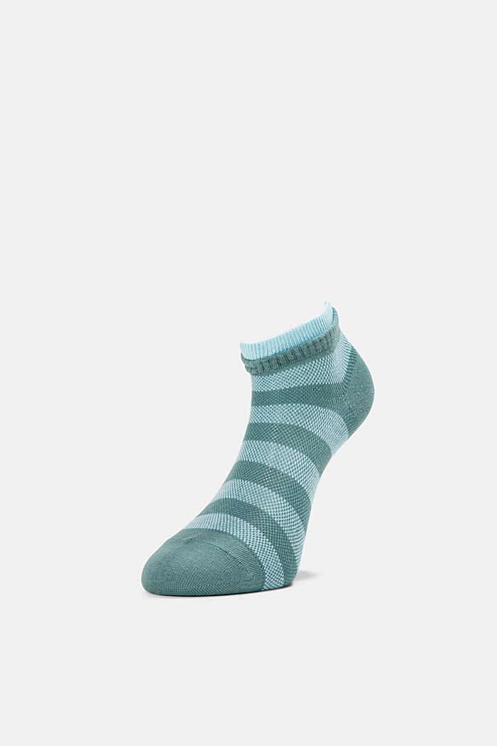 2er-Pack Sneaker-Socken aus Baumwoll-Mesh, GREEN, detail image number 2