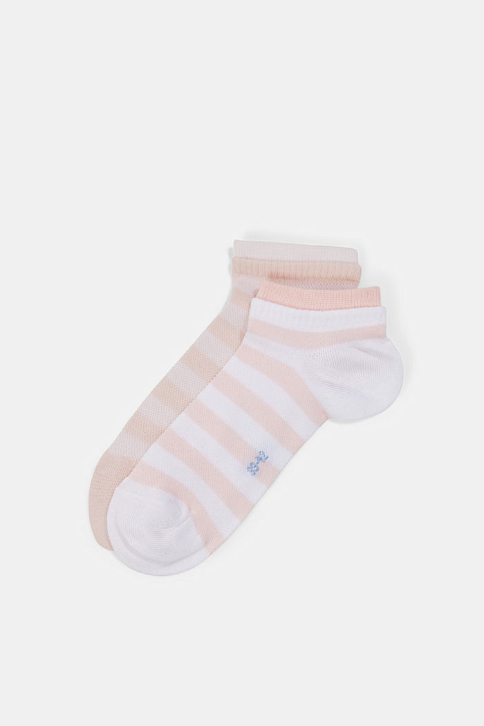 2er-Pack Sneaker-Socken aus Baumwoll-Mesh, ROSE, detail image number 2
