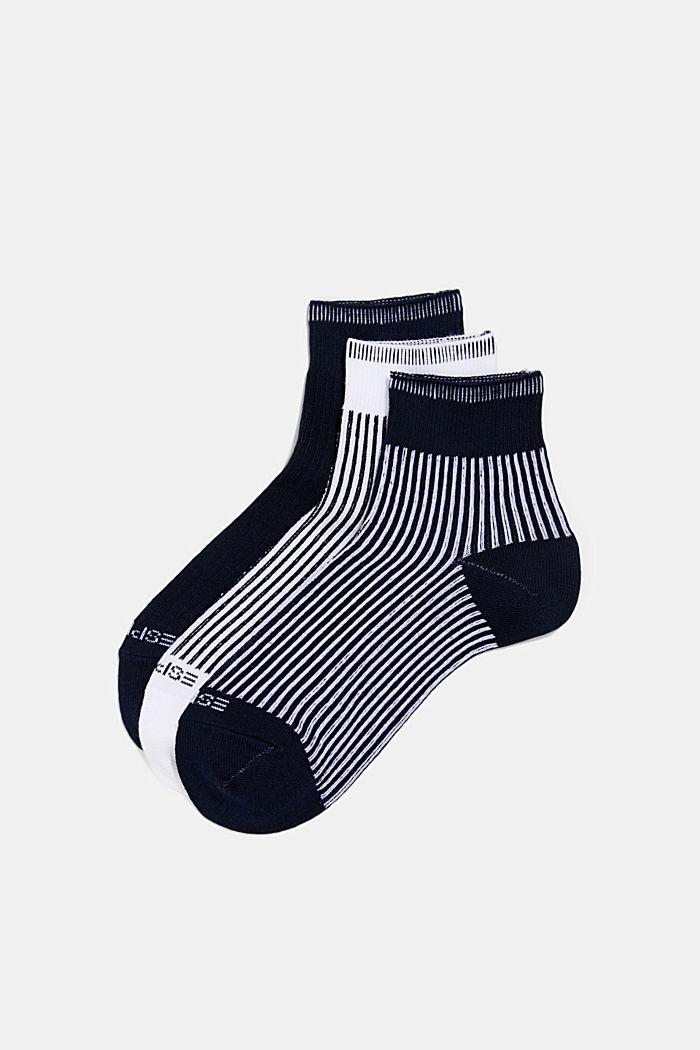 3er-Pack Socken mit Ripp-Struktur