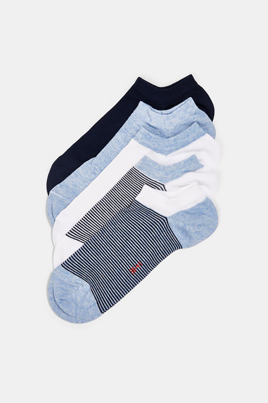 mixed stripe sneaker socks