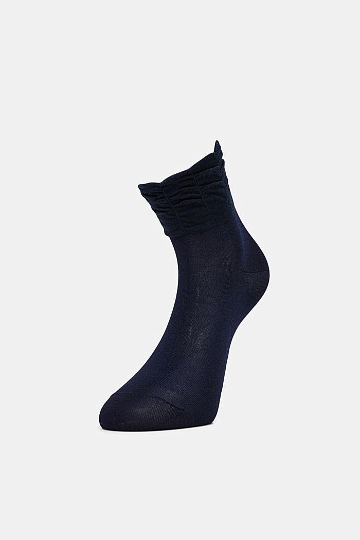 Socken mit Rüschen-Bündchen, MARINE, detail image number 2