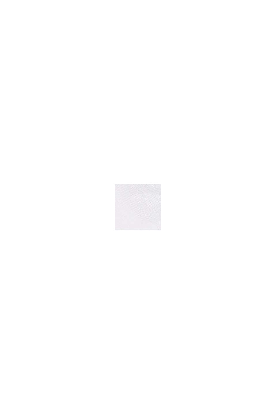 Sokken met motief en ruches, WHITE, swatch