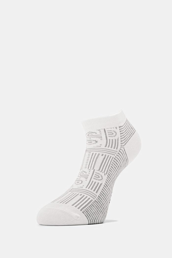 Sneaker-Socken aus Baumwoll-Mix, OFF WHITE, detail image number 2