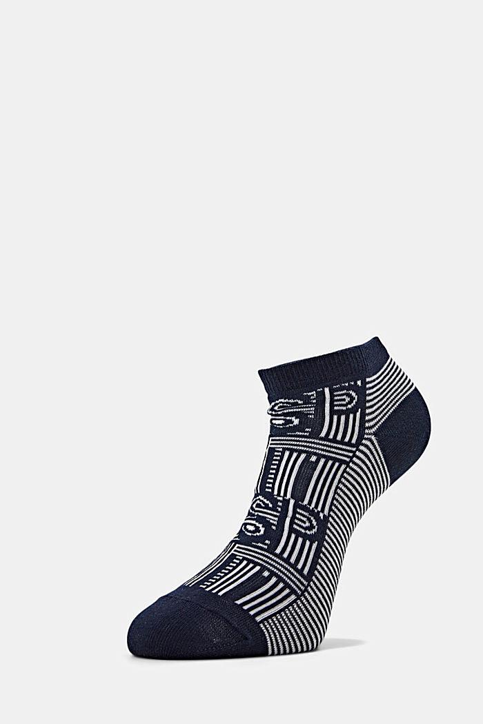 Sneaker-Socken aus Baumwoll-Mix, MARINE, detail image number 2