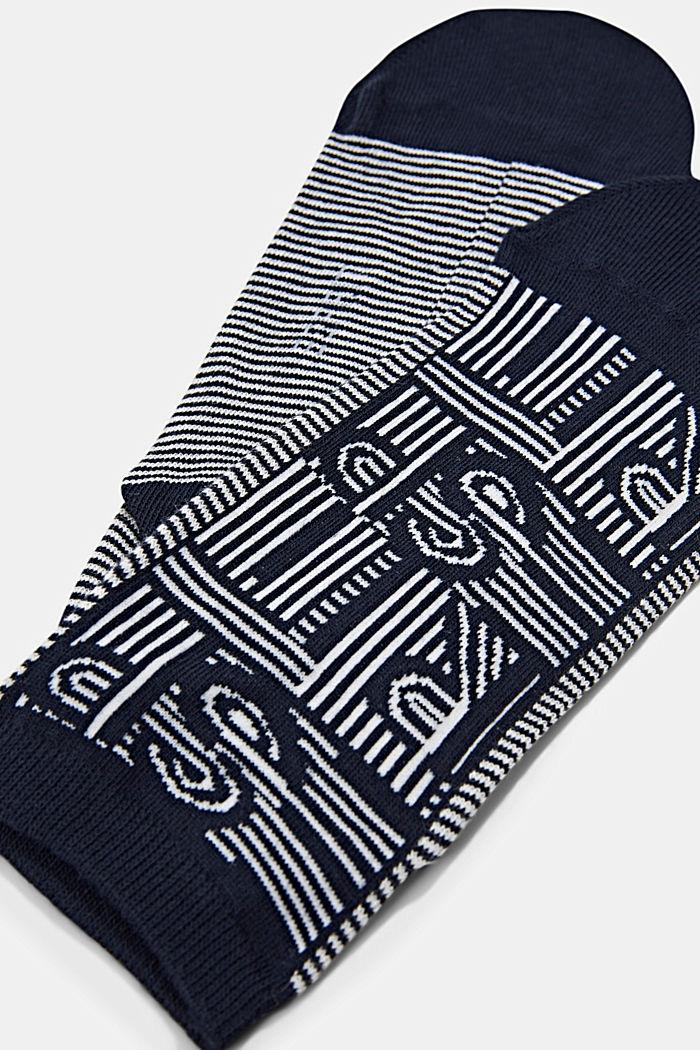 Sneaker-Socken aus Baumwoll-Mix, MARINE, detail image number 1
