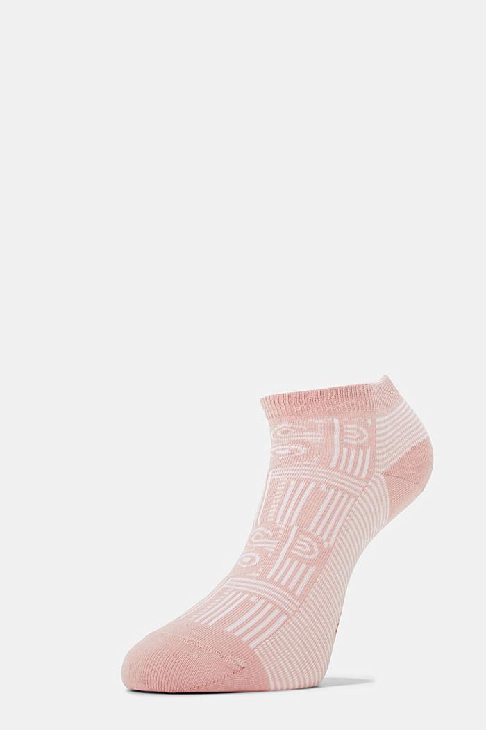 Blended cotton trainer socks, MISTY ROSE, detail image number 2