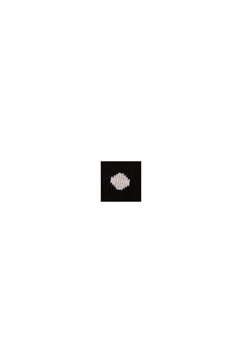 Sokken met rolrandjes, van een katoenmix, BLACK, swatch