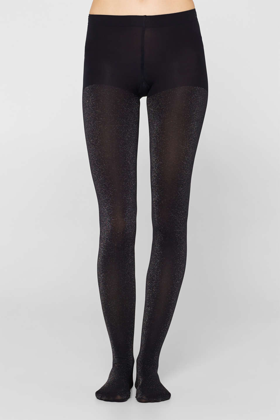 Opaque tights in a glitter look, MARINE, detail image number 1