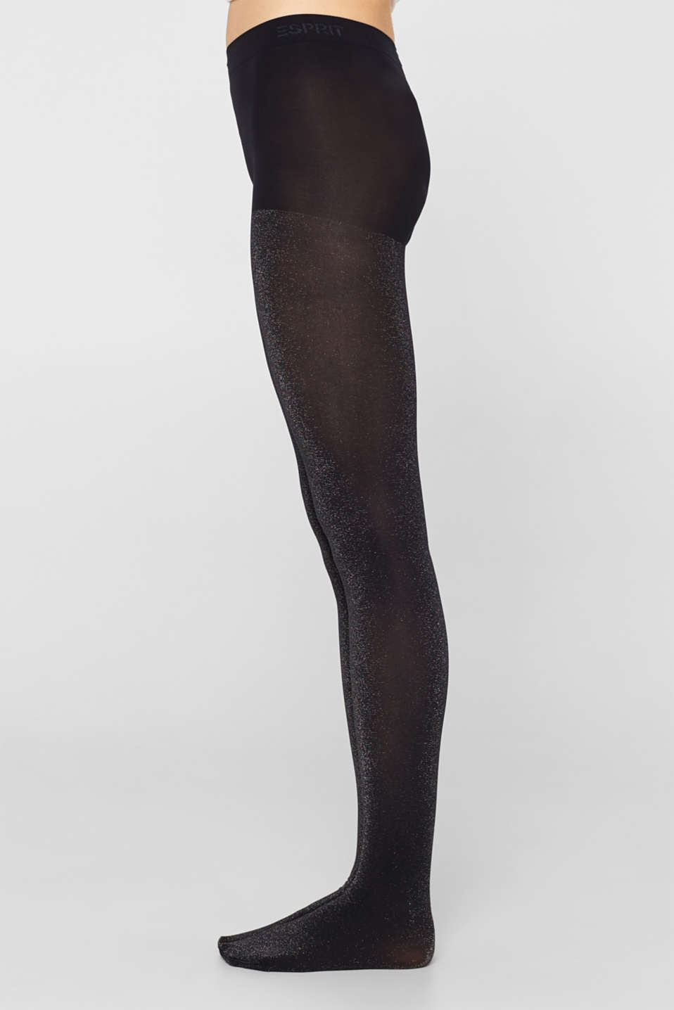 Opaque tights in a glitter look, MARINE, detail image number 2