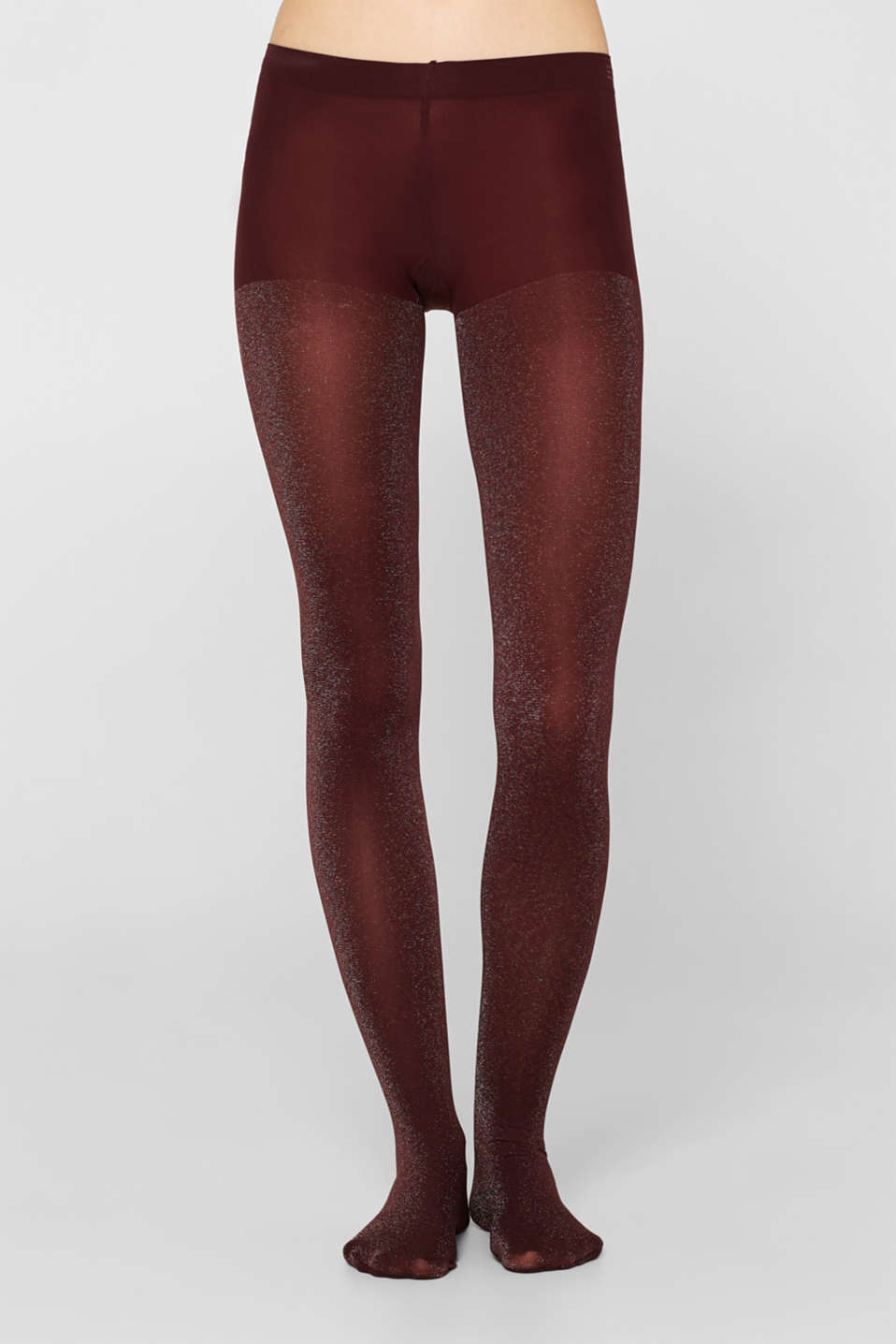 Opaque tights in a glitter look, BAROLO, detail image number 1