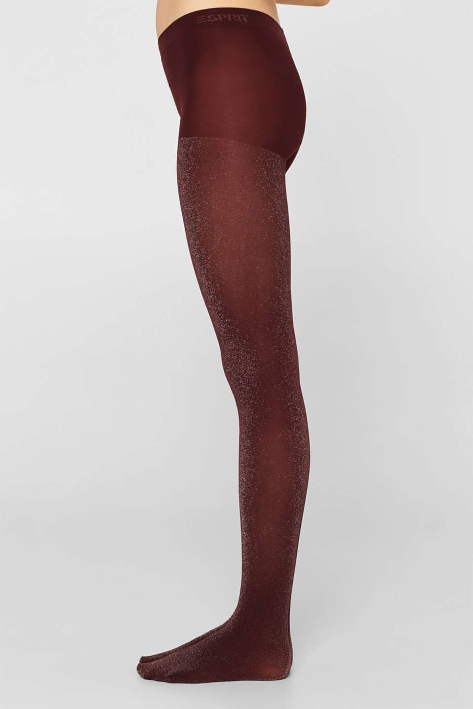 Opaque tights in a glitter look, BAROLO, detail image number 2