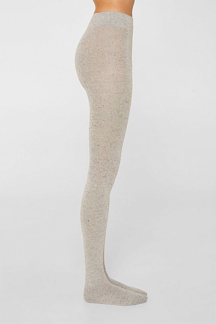 With silk: Dimpled tights