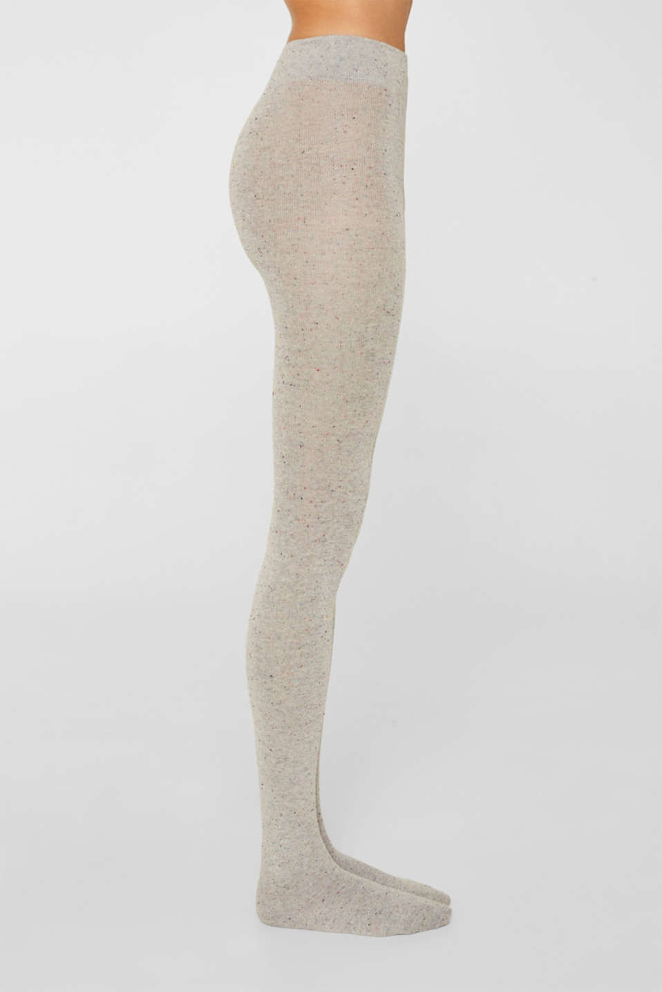 With silk: Dimpled tights, LIGHT GREY, detail image number 1